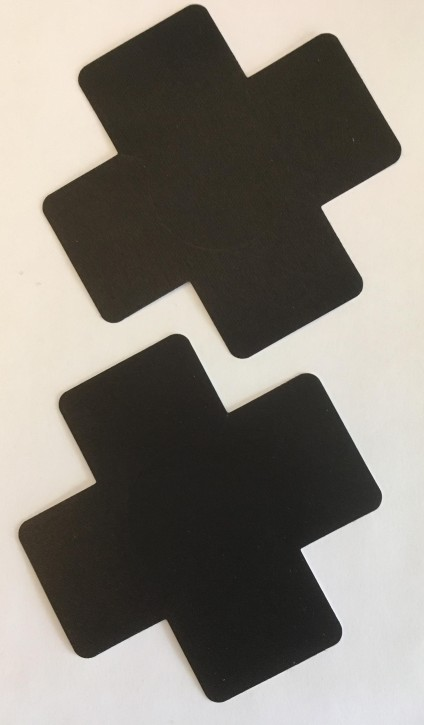 Fancy Nipple Covers Schwarz - Kreuz